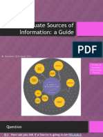 Evaluating Sources of Information