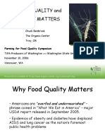 Food Quality and Why It Maters