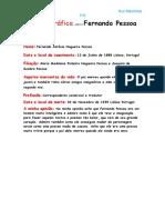 Nota Biográfica Sobre Fernando Pessoa