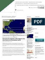 Huracán de Categoría 2 Alex Llegará a Las Islas Azores en La Próximas Horas - El Diario de Yucatán