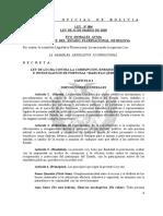 Bolivia Ley Nº004 - Marcelo Quiroga Santa Cruz