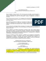 Bolivia - Decreto Supremo 181 (2009)