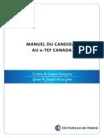 Manuel Du Candidat e TEF CANADA 2015 V1.0