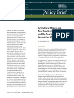 Agricultural Models and Best Practices from Brazil and the Southern Cone