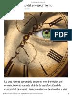 El Reloj Biológico Del Envejecimiento