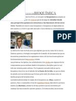 DEFINICIÓN DE BIOQUÍMICA