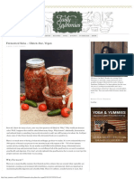 Fermented Salsa - Gluten-free, Vegan - Tasty Yummies