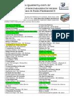 Lista de Livros 2011 6 e 7 Anos
