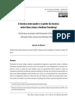 __Artigo - Oliveira - 'a Técnica Como Poder e o Poder Da Técnica- Jonas e Feenberg' (2015)