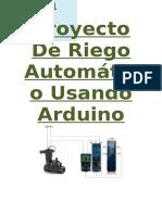 Proyecto Riego Arduino