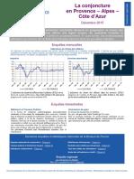 La conjoncture en Provence-Alpes-Côte d'Azur analysée par la Banque de France en décembre 2015