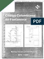 Código Colombiano de Fontanería NTC 1500