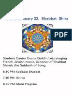 Shabbat Shira