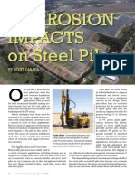 Corrosion Impacts on Steel Piles