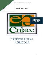 Reglamento de Crédito Rural Agrícola