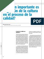 Qué Tan Importante Es La Gestion de La Cultura en El Proceso de La Calidad