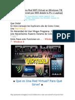 Como Crear Una Red WiFi Virtual en Windows 7-8