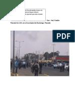 Bloqueo de Elementos Policiacos a La Caravana