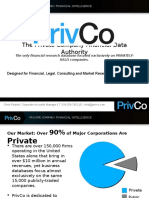 PrivCo Financial Presentation