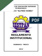 REGLAMENTO INSTITUCIONAL 2013 IESTPAN