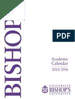 2015- 16 BU Academic Calendar