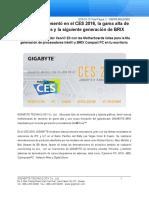 GIGABYTE presentó en el CES 2016, la gama alta de Motherboards y la siguiente generación de BRIX