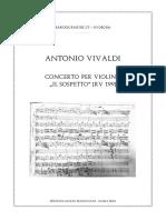 Vivaldi Concerto Il Sospetto RV 199 Score