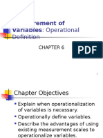 Measurement of Variables