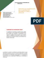 Principio de Conservación de La Cantidad de Movimiento Lineal y Angular