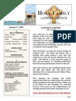 church bulletin 1-17-2016  1