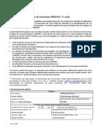 Plan Formation MEDITIS MSc 2015