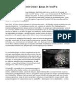 Mission Against Terror Online, Juego De Acción