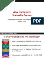 Millennium Final NH Statewide Survey Results--April 8 2010