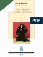 Petit Manuel d'inesthétique, d'Alain Badiou