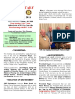 Moraga Rotary Newsletter Jan 12, 2016