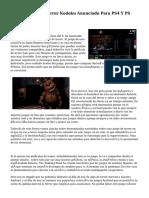 Nuevo Juego De Terror Kodoku Anunciado Para PS4 Y PS Vita
