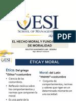 Hecho Moral y Moralidad