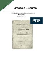 Declaração e Discurso - THOMAS CAMPBELL