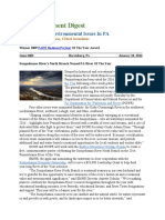Pa Environment Digest Jan. 18, 2016