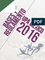 Bases y Reglamento UPA México 2016