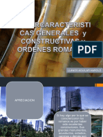 Caracteristicas Generales y Constructivas y Ordenes Romanos