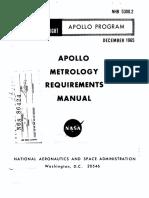 NASA NHB 5300.2 Apollo Metrology Requirements Manual
