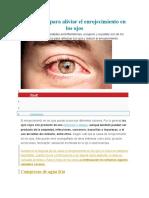 Remedioi Casero Para Ojos Rojos