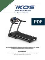 Esteira Kikos KS 2402 - Motor 2,65 HPM - 110V (1)