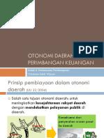 Otonomi Daerah Dan Perimbangan Keuangan