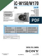Sony DSC-W150/170 Service Manual