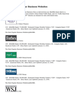 Top 15 Most Popular Business Websites