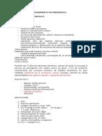 Protocolos de Tratamiento en Emergencia