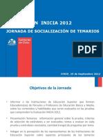 Socializacion Temario Inicia 2012