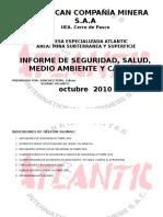 Informe Mensual de Seguridad Octubre 2010